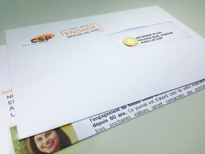 EtienneEtienne envoie 240 000 pièces de 5 ct. pour les 60 ans du CSP
