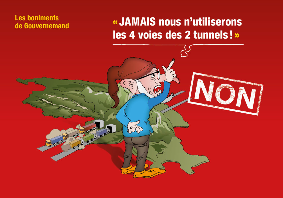 Campagne street-marketing pour le Gothard