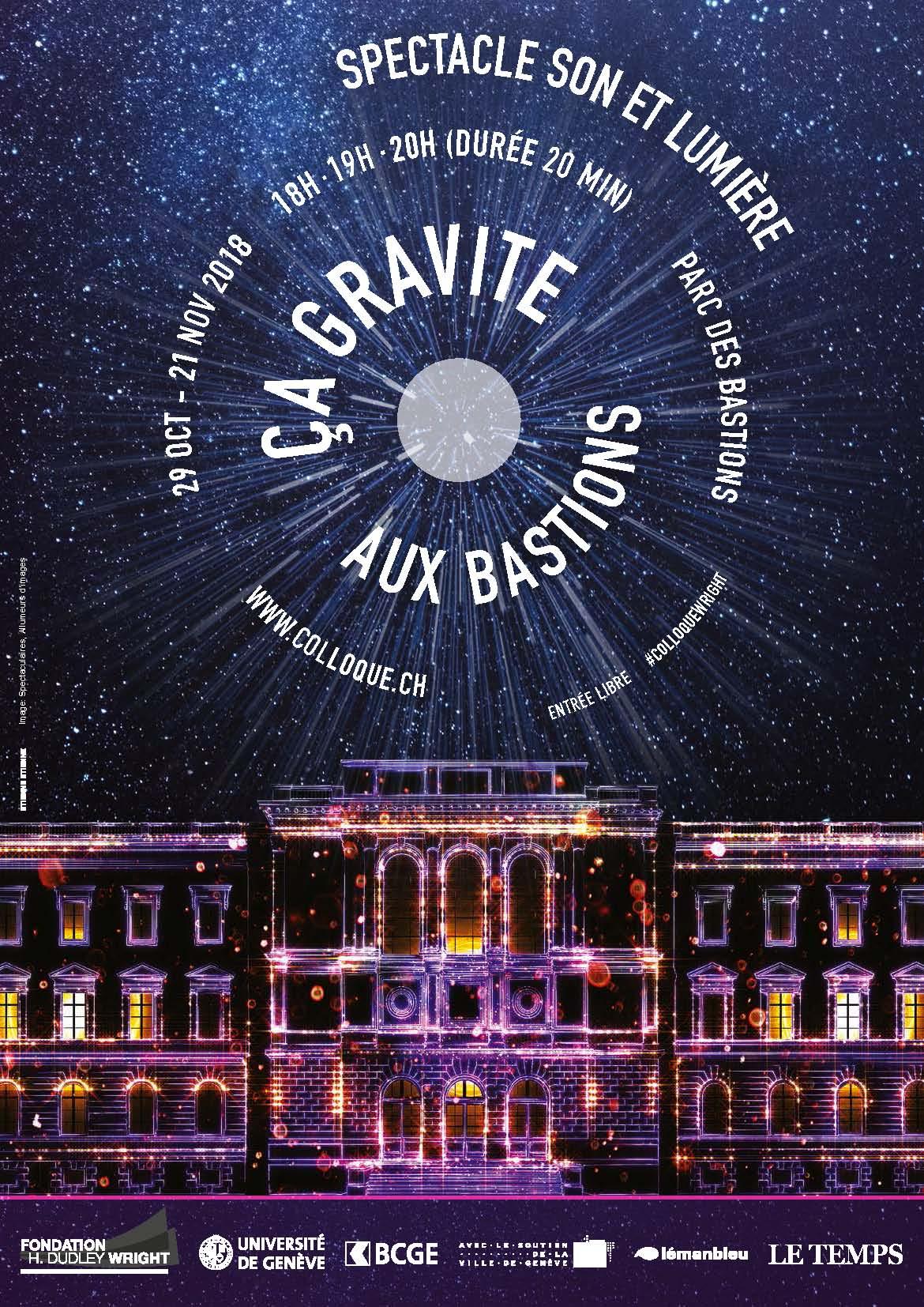 """EtienneEtienne réaliste l'affiche """"ça gravite aux Bastions"""""""