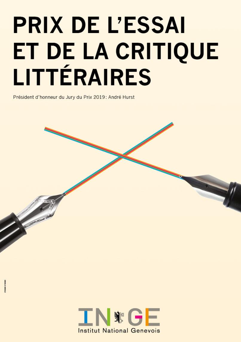 EtienneEtienne réalise l'affiche pour le prix de l'essai et de la critique littéraires