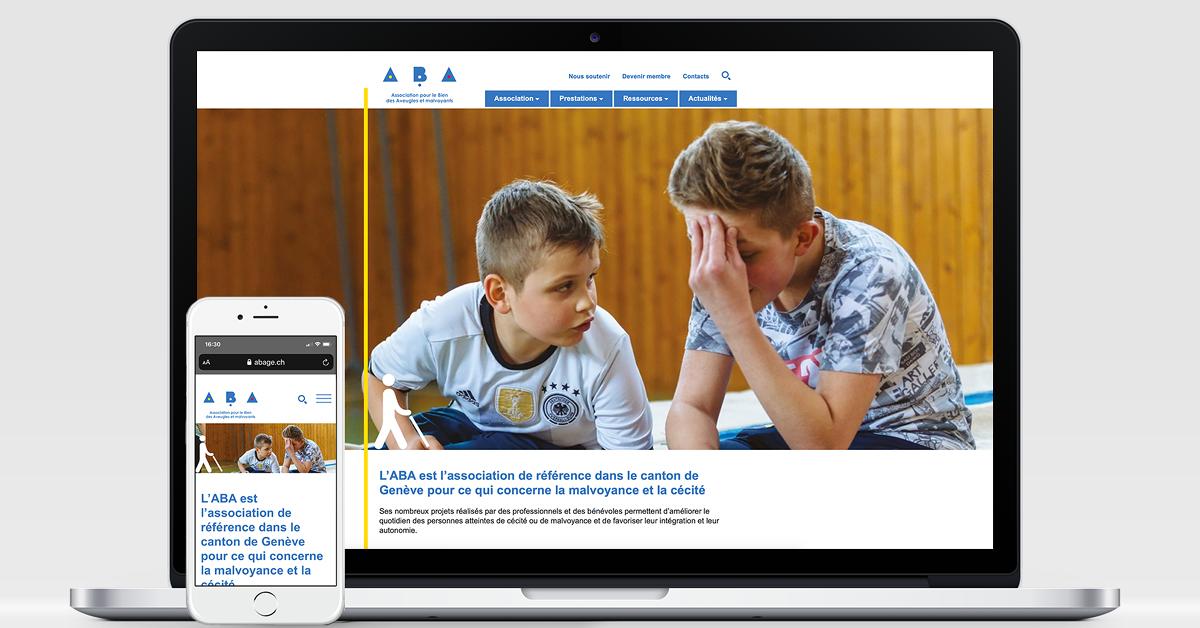 EtienneEtienne réalise un site à haut niveau d'accessibilité pour l'ABA