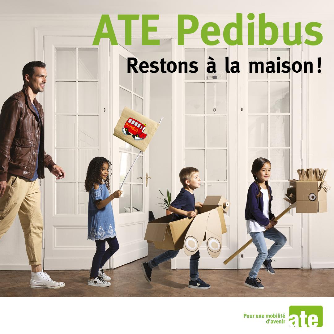 #Covid19: EtienneEtienne décline le concept PEDIBUS pour l'école à la maison!