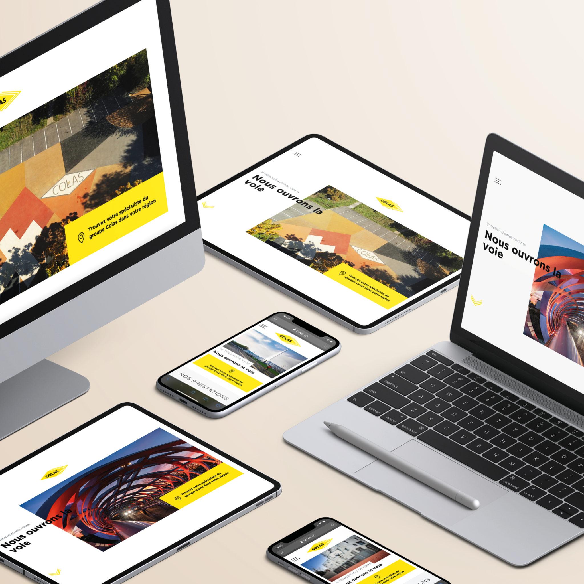 L'agence EtienneEtienne réalise le site internet de Colas Suisse