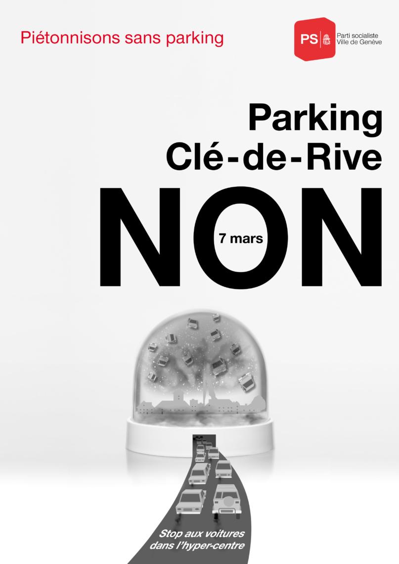 EtienneEtienne engagée aux côtés du PS pour la campagne Parking Clé-de-Rive NON